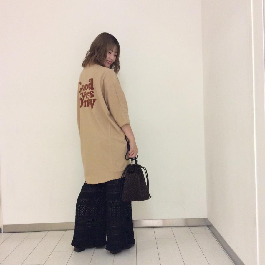 背中にロゴ☆BIG切替Tシャツ