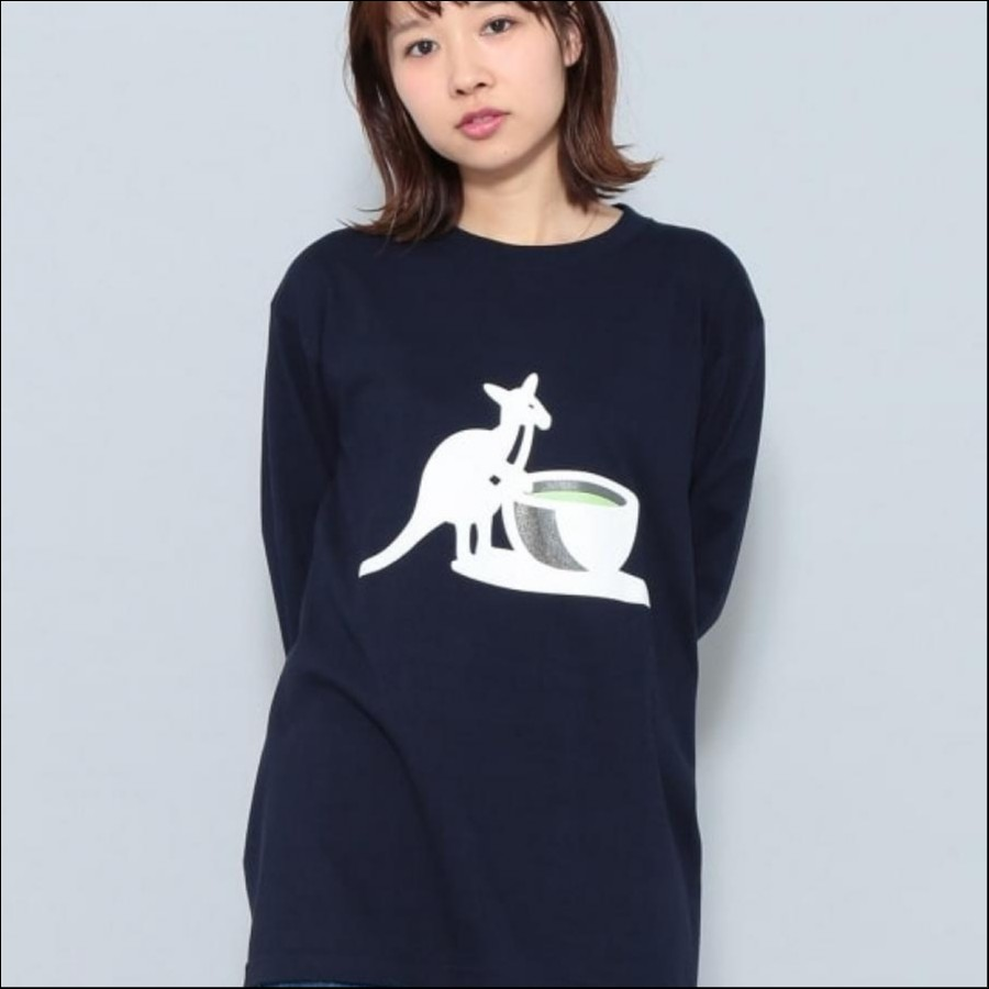 KANGOL別注 'green tea' T シャツ ネイビー