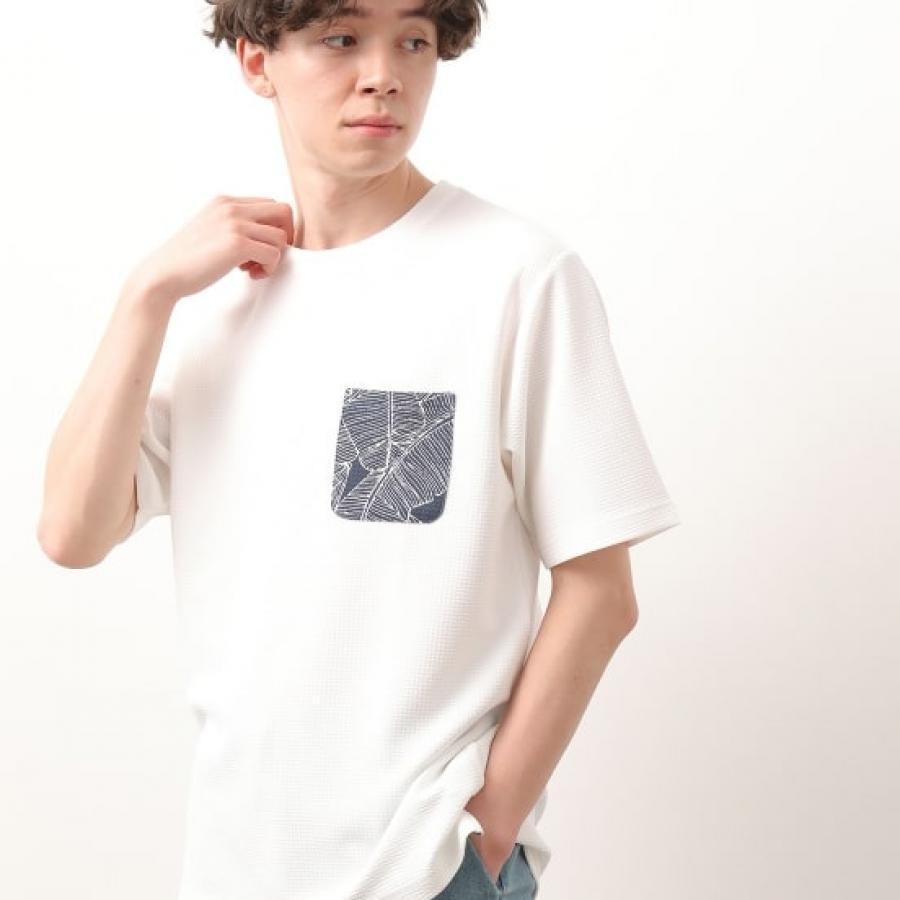 ウェーブワッフルポケットTシャツ