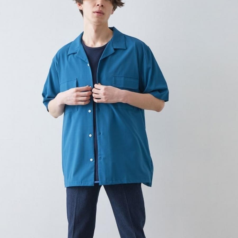 バンブーオープンカラーシャツ