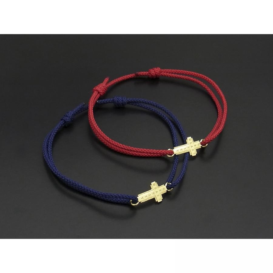 Gravity Cross Cord Bracelet & Anklet - K18Yellow Gold