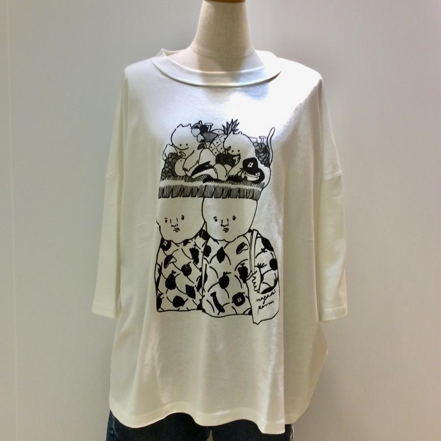 ナガキパーマコラボTシャツ(フルーツ白