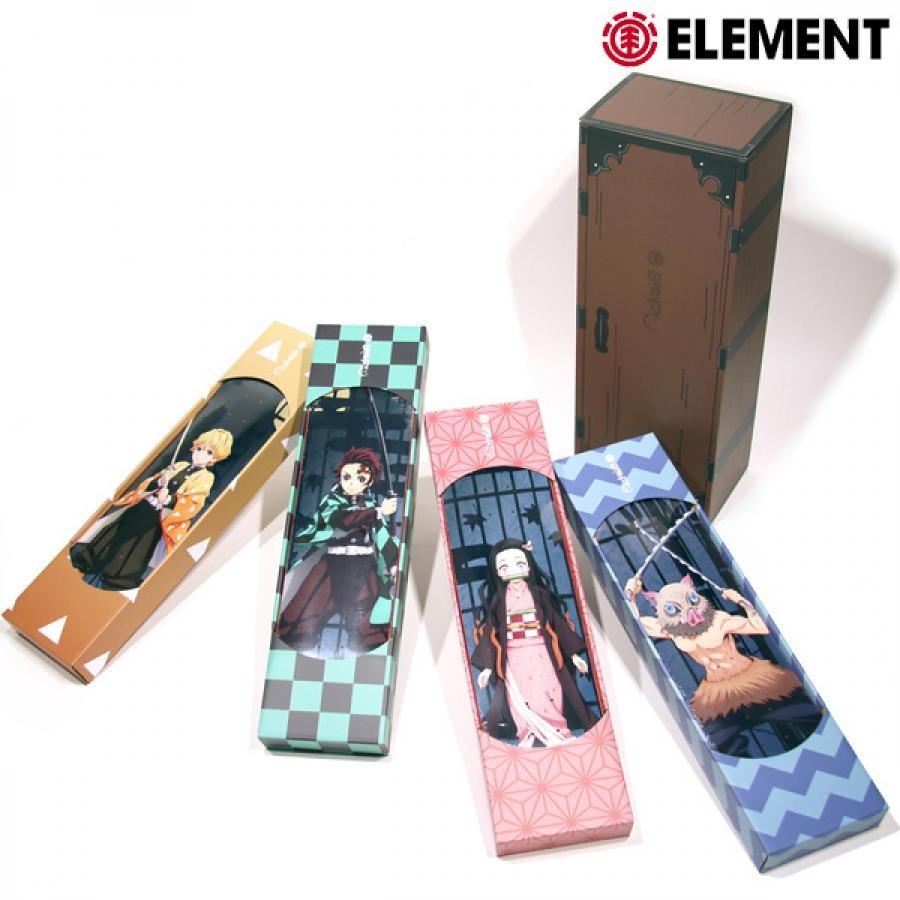 スケートボード デッキ ELEMENT エレメント BB027-084 KIMETSU DECK 4PACK 数量限定 鬼滅の刃 コラボ II4 J21