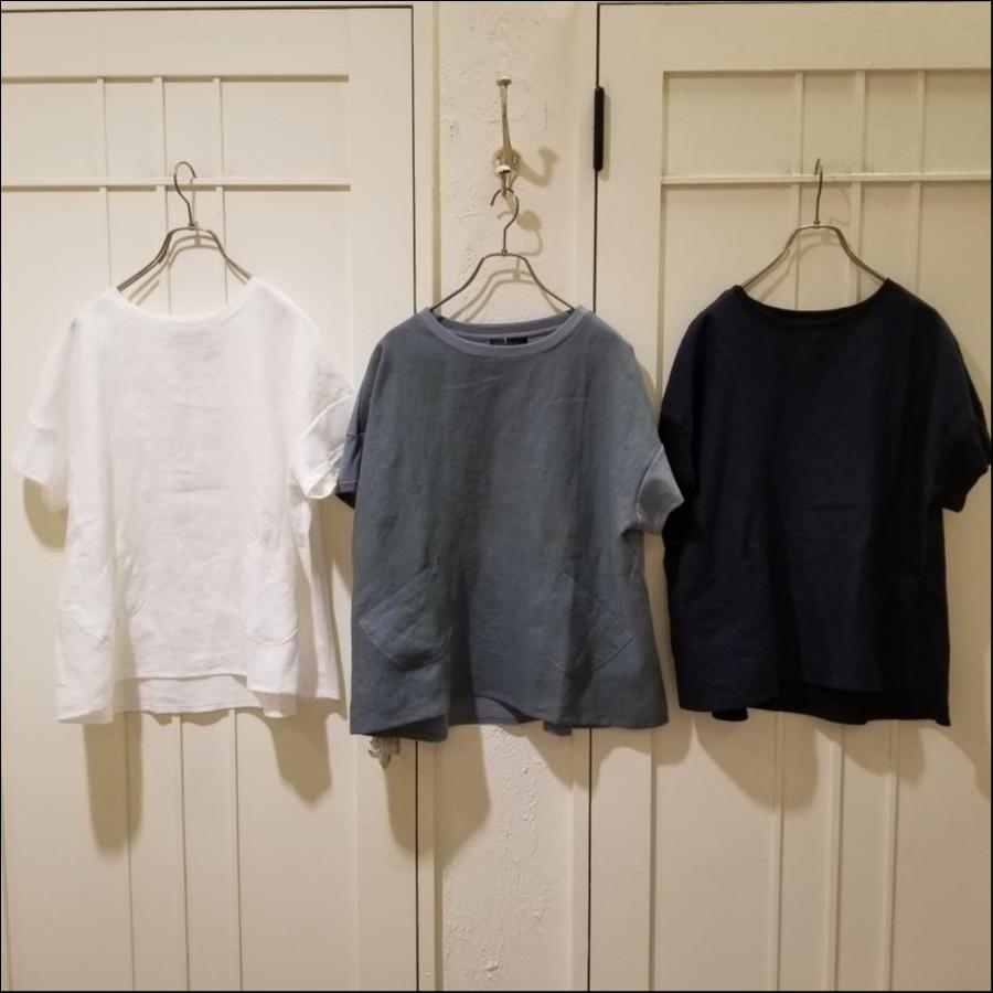 JAPAN LINENコンビポケットTシャツ