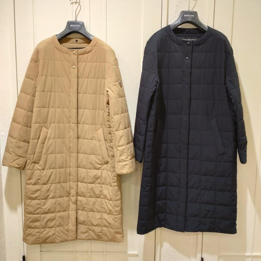 【CAPE HORN】ノーカラー中綿コート