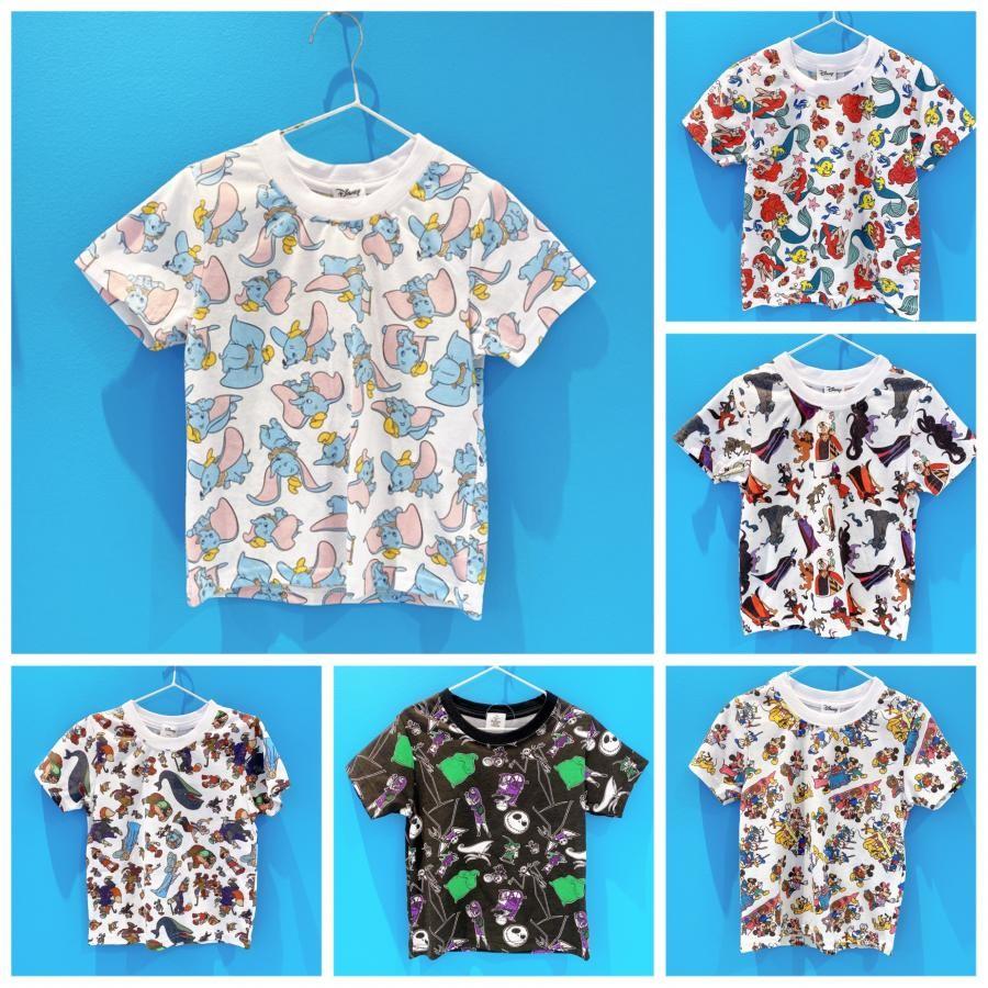 kids総柄Tシャツ Disney
