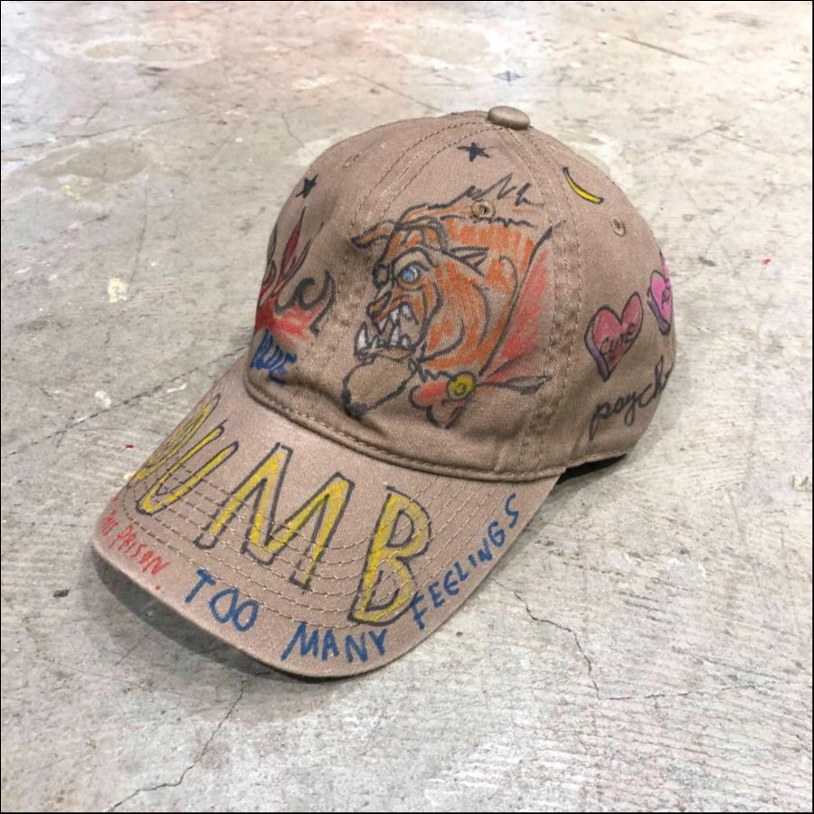 guernika painted cap