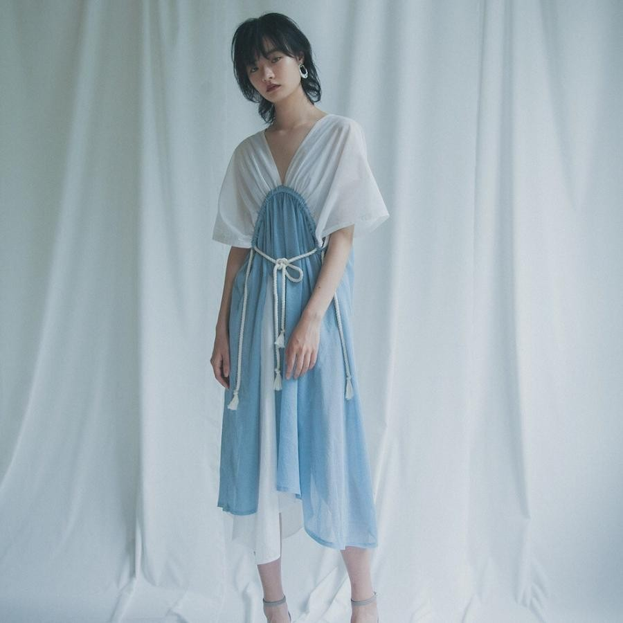 YUKI SHIMANE Summer Knit tied dress