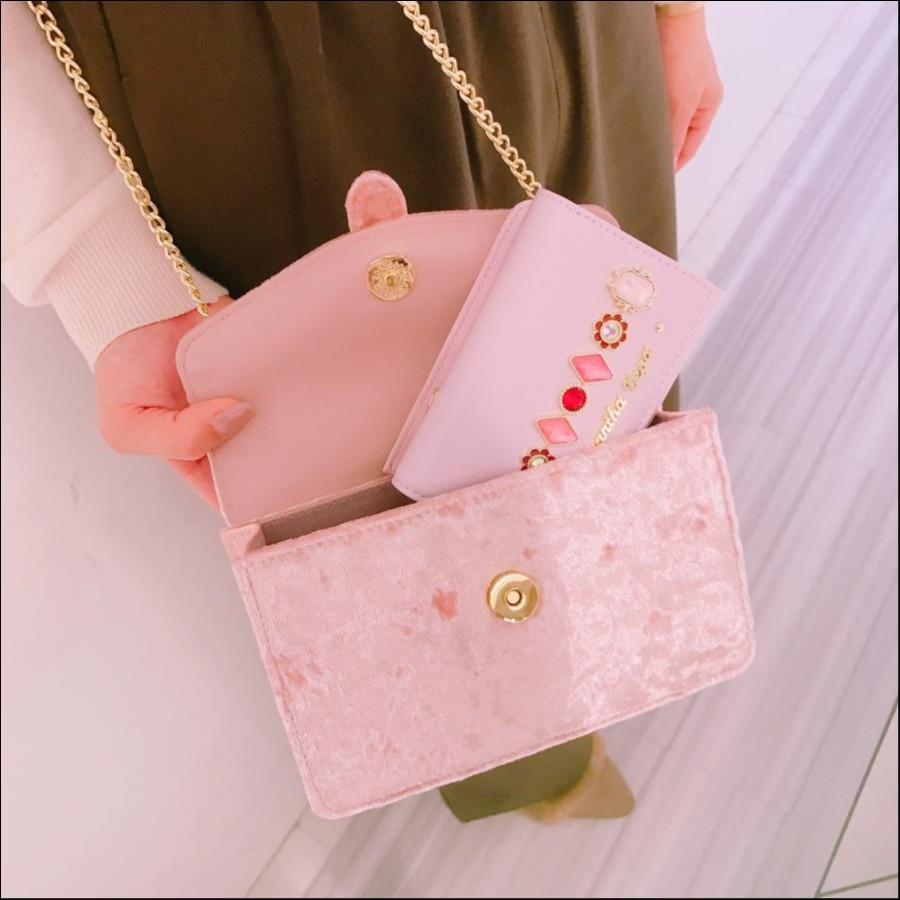 フラワービジューミニ財布