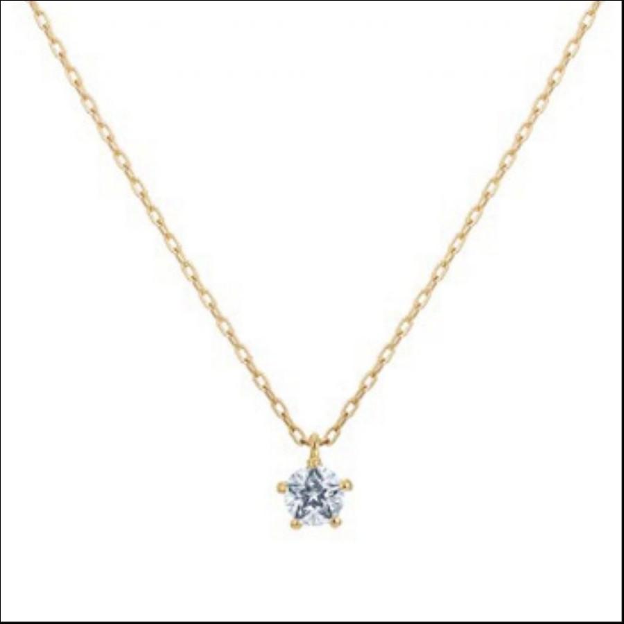 【Wish upon a star】 K18イエローゴールド ダイヤモンドネックレス