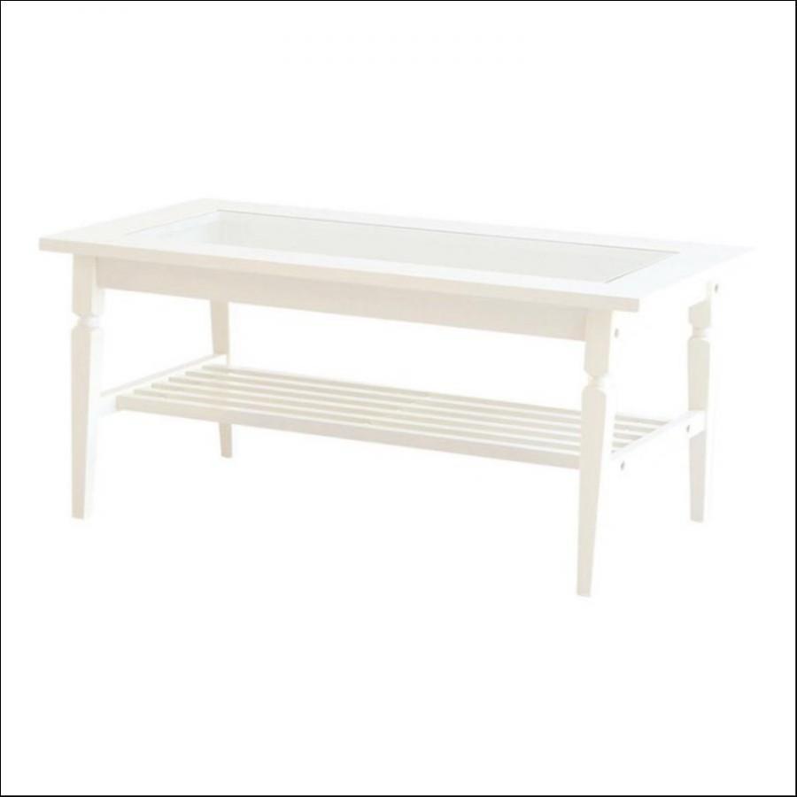 アイネリノガラステーブル(ホワイト)