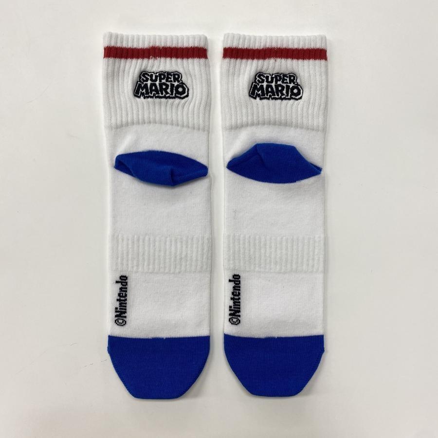スーパーマリオ アメリブロゴ刺繍靴下 01【25~27cm】