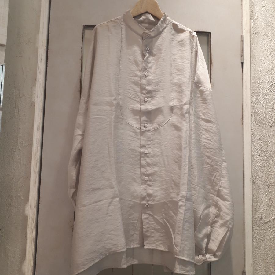 シアーポプリン切り替えシャツ