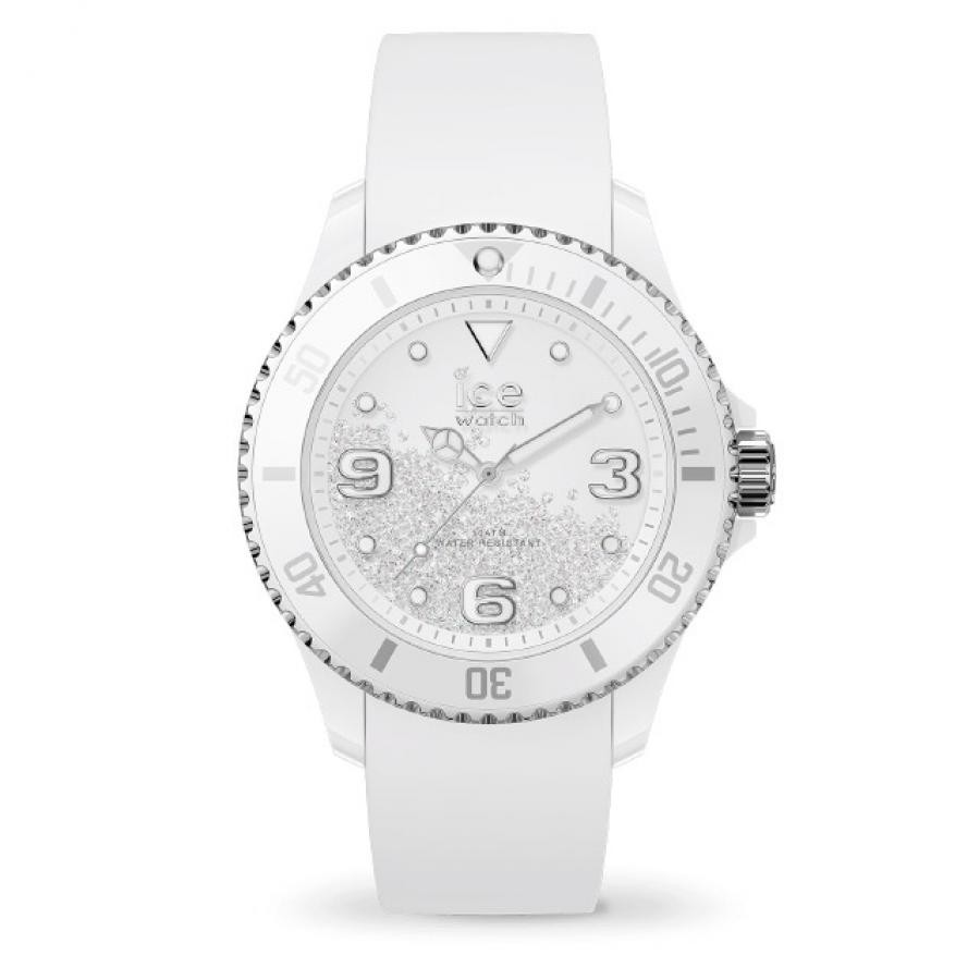 アイスウォッチ ice watch ICE crystal - アイス クリスタル ホワイト シルバー スムーズ (ミディアム)