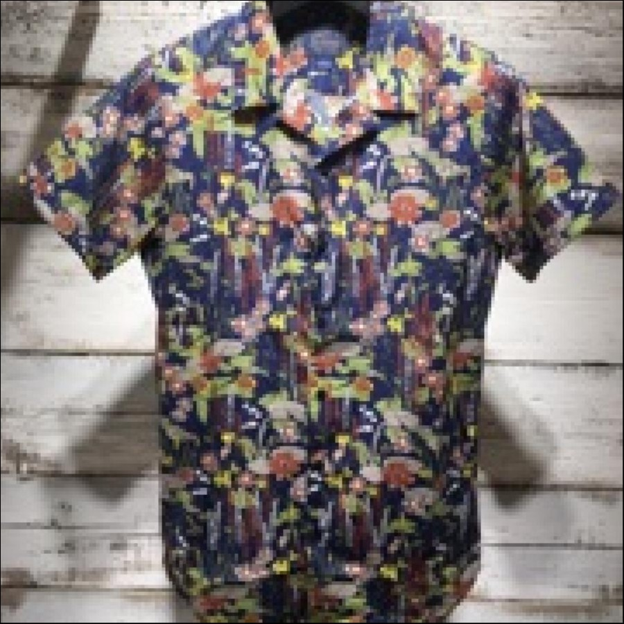 DSTREZZED オープンカラーシャツ