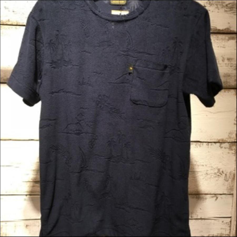 ハワイ柄パイル地Tシャツ