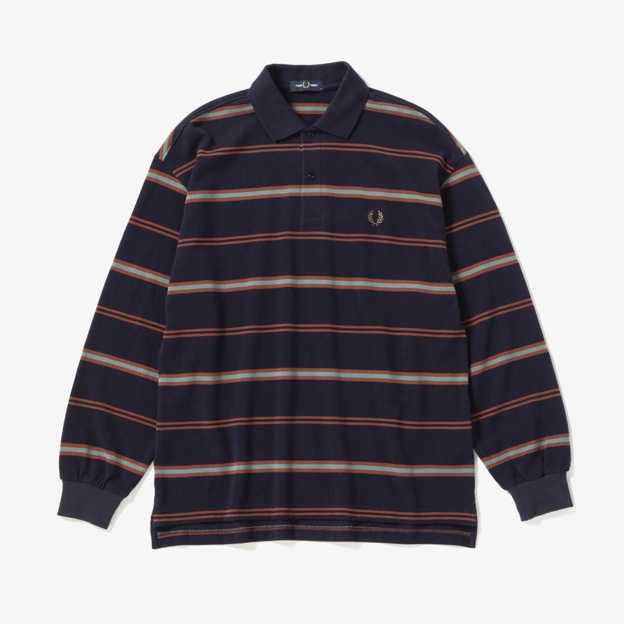 LONG SLEEVE STRIPE PIQUE SHIRT