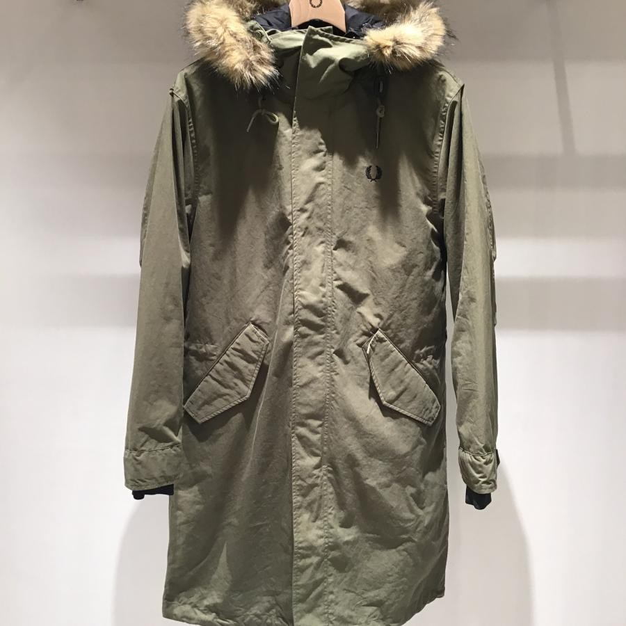 MEN ZIP IN LINER PARKA BRITISH OLIVE