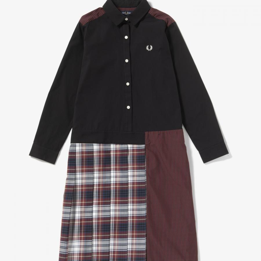 MIX PANELLED SHIRT DRESS