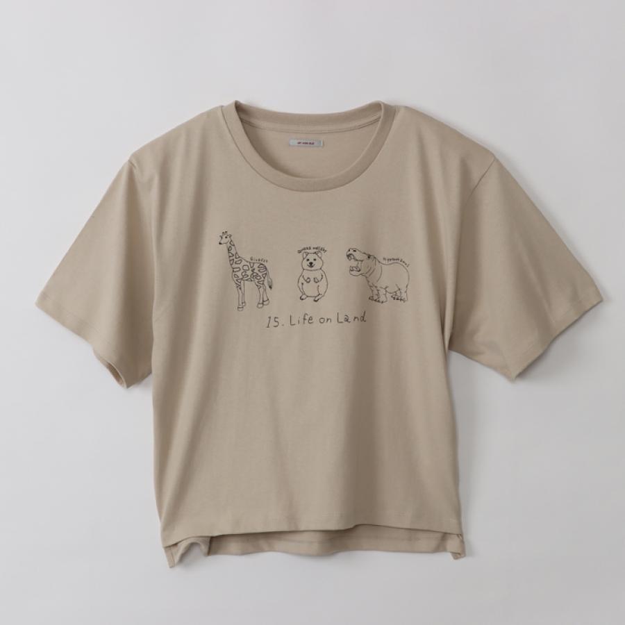 ワラビープリントTシャツ