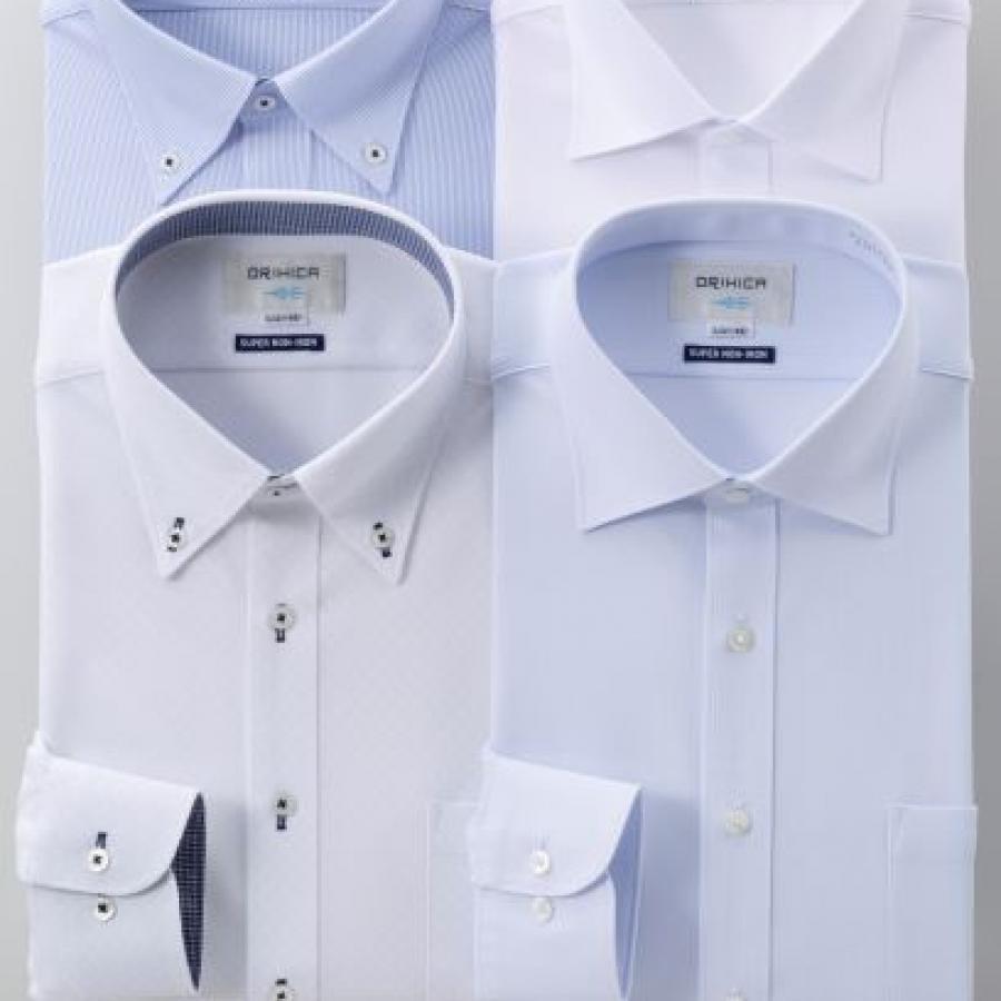 【福袋】スーパーノンアイロンワイシャツ 4点