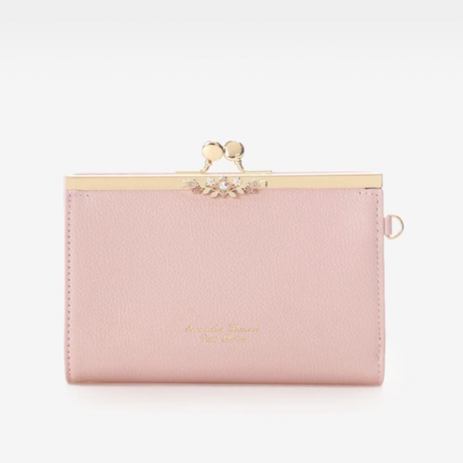 フラワーモチーフ中折財布