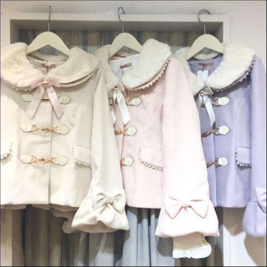 ビットバックルリボン袖ショートコート
