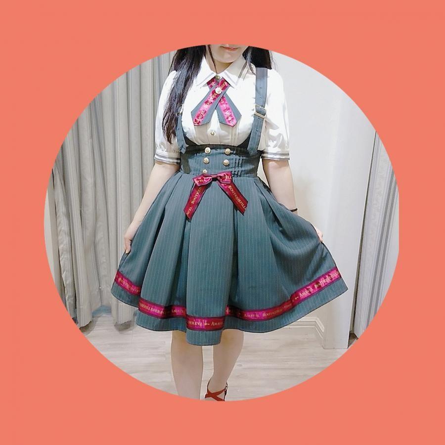 ロゴリボン ストライプスカート