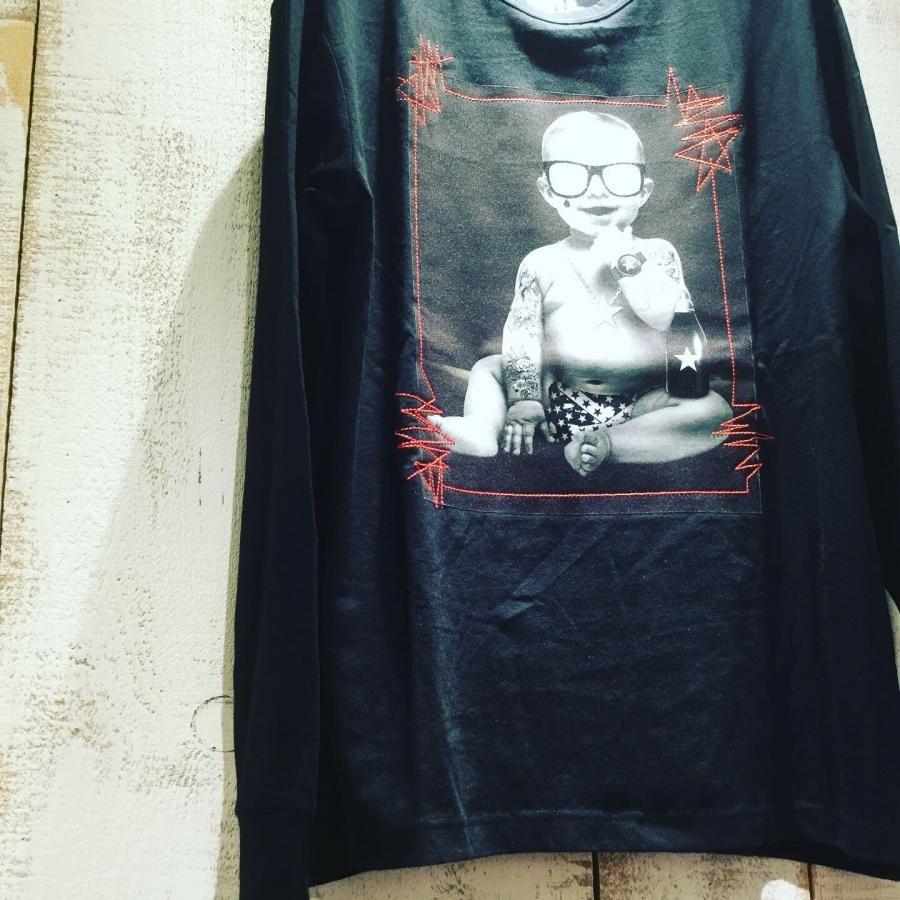 Starlean 3Dサングラス BABY ロングTシャツ ブラック