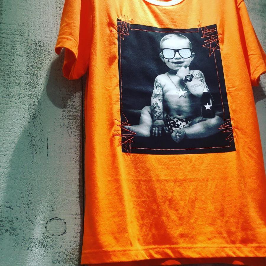 Starlean 3Dサングラス BABY Tシャツ オレンジ