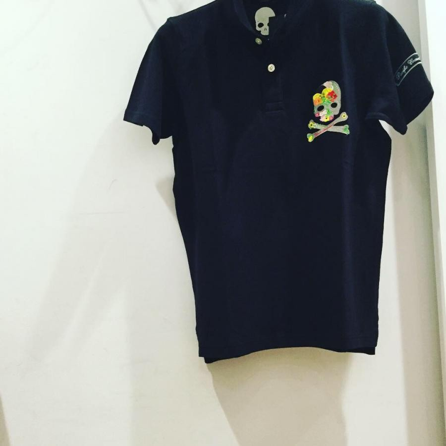 BLUNERO ストレッチ鹿の子ポロシャツ ブラック