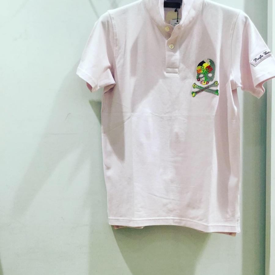 BLUNERO ストレッチ鹿の子ポロシャツ ピンク
