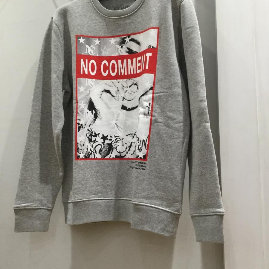 NO COMMENT PARIS  プリントスェット グレー