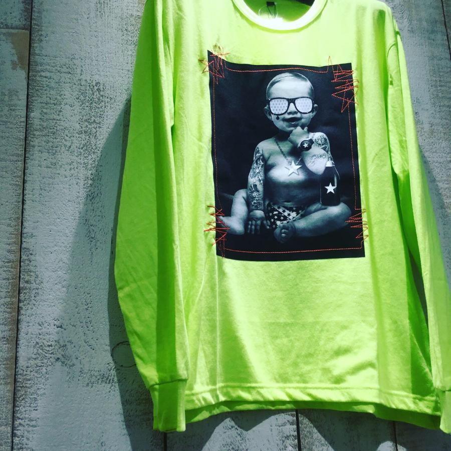 Starlean 3Dサングラス BABY ロングTシャツ グリーン