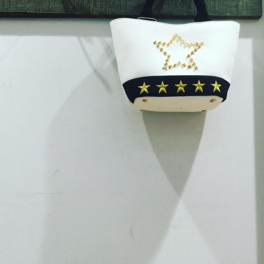 Starlean キャンバスミニトートバッグ ホワイト