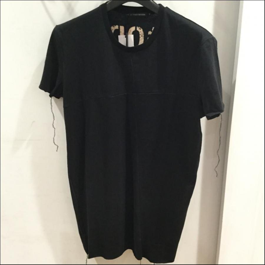 gene par yukio mishiba バックプリントTシャツ ブラック