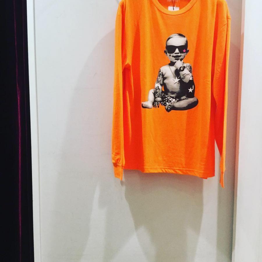 Starlean BABY ロングスリーブTシャツ オレンジ系
