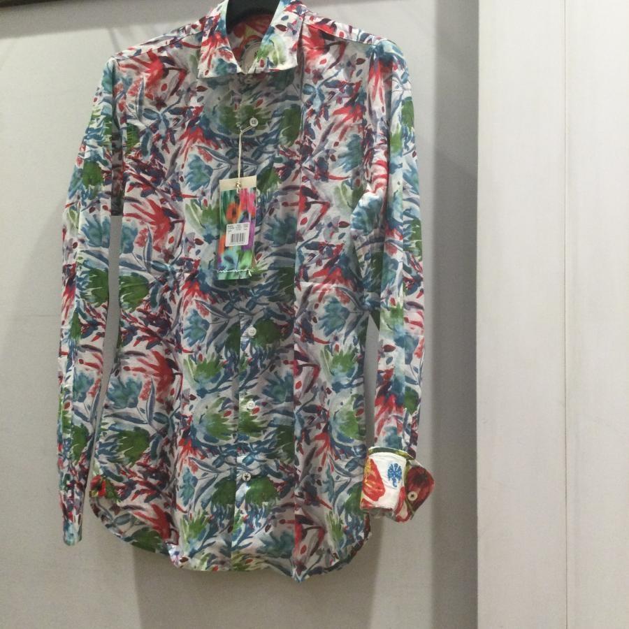 Ganesh リゾートシャツ マルチカラー系