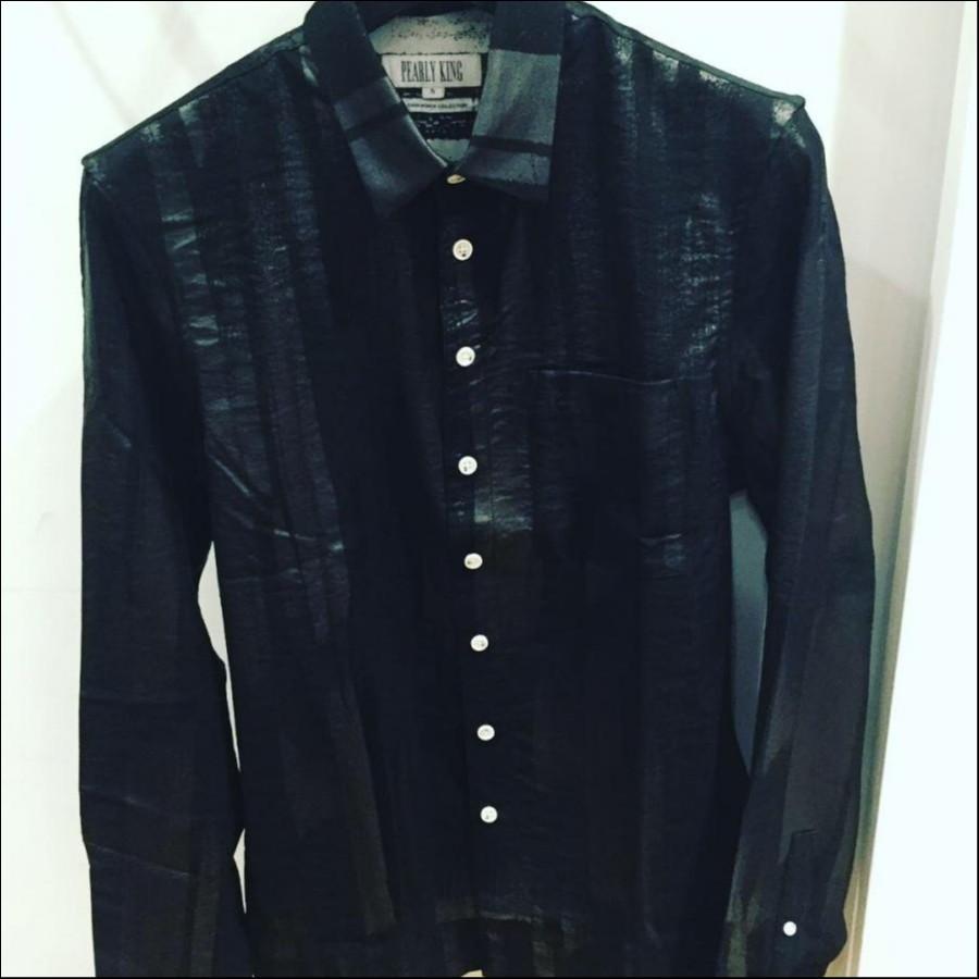 PEARLY KING レーヨンシャツ ブラック