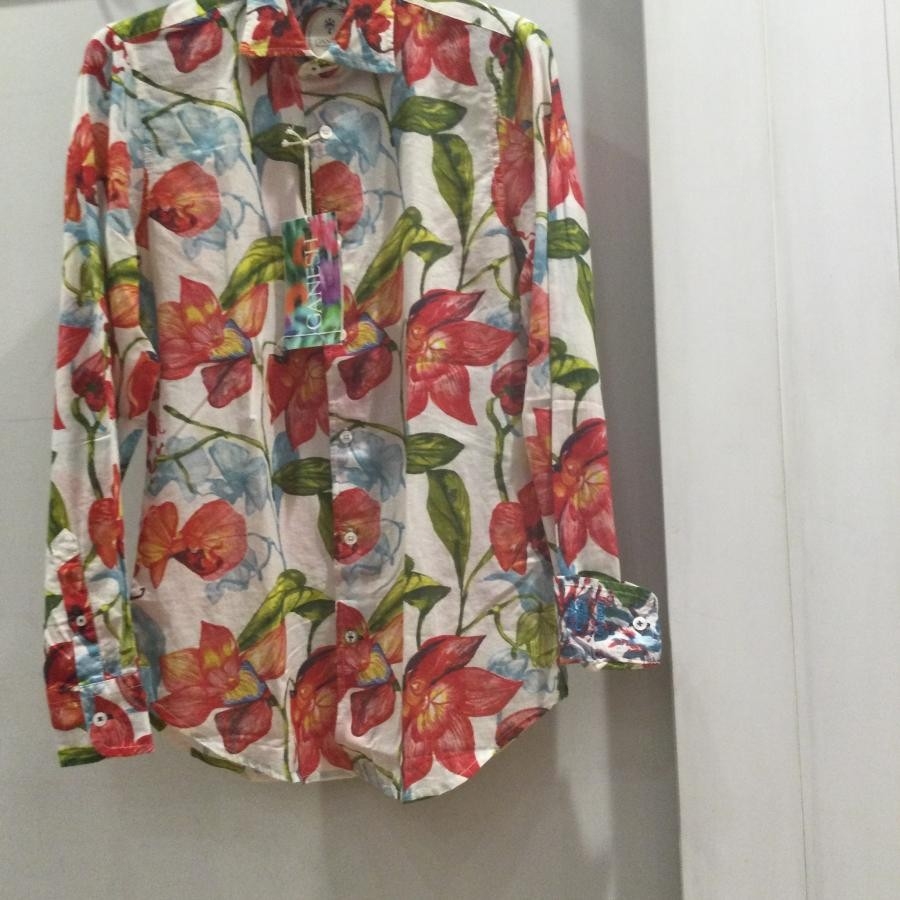 Ganesh リゾートシャツ オレンジ系