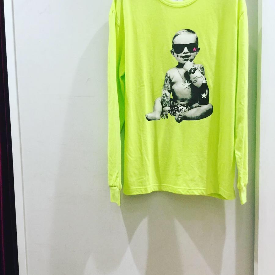 Starlean BABY ロングスリーブTシャツ ライムグリーン系