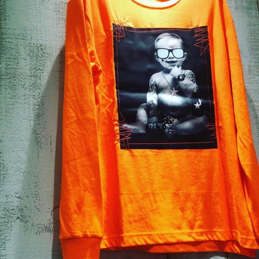 Starlean 3Dサングラス BABY ロングTシャツ オレンジ