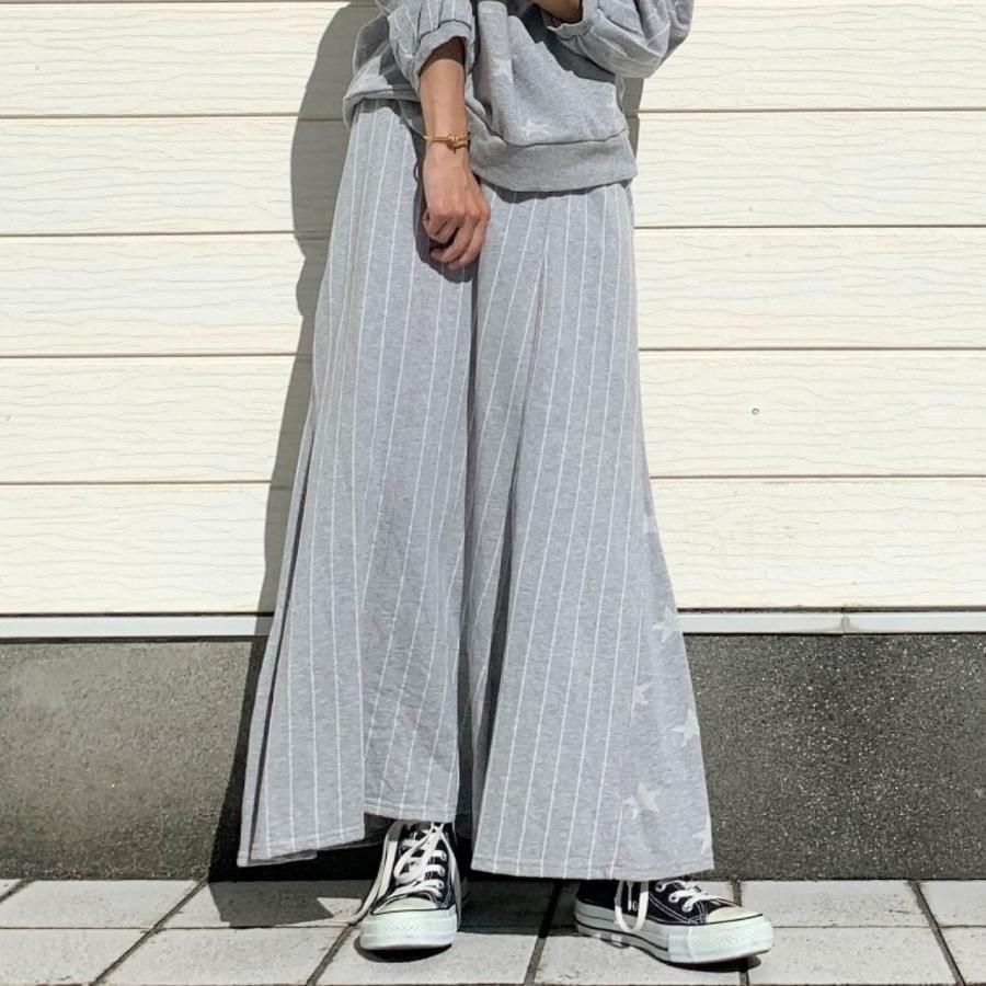 ジャガード裏毛スカート