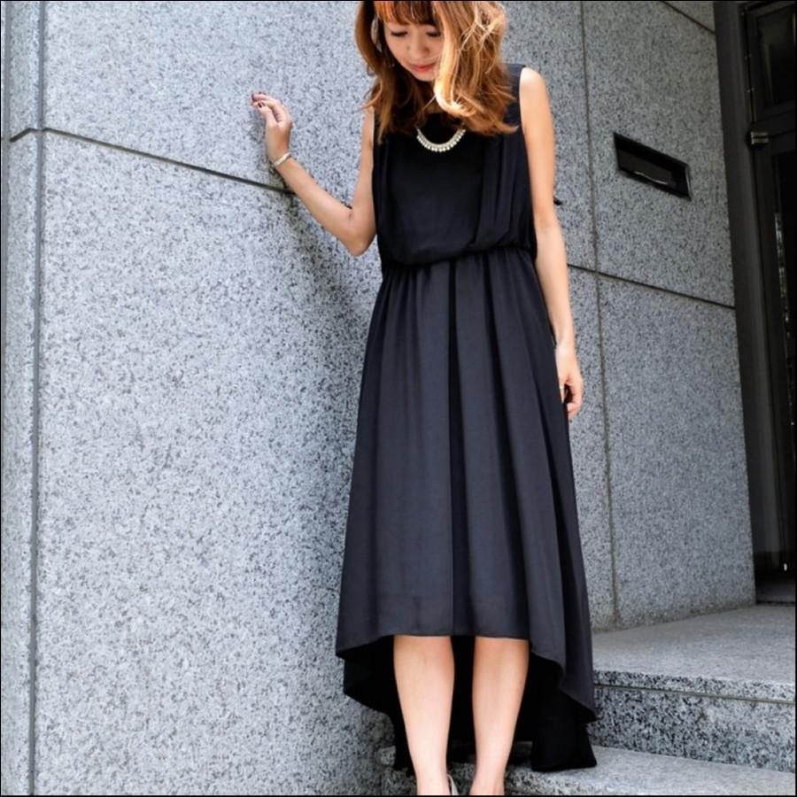 テールカットロングドレス