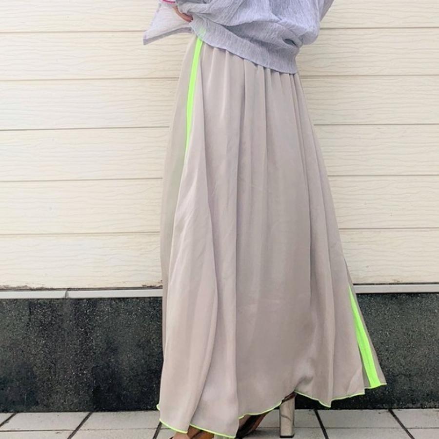 サイドラインマキシスカート
