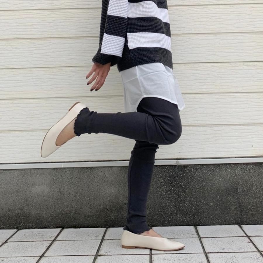 【Q's WARM wear  Fair対象商品】プレミアムコットンテレコレギンス