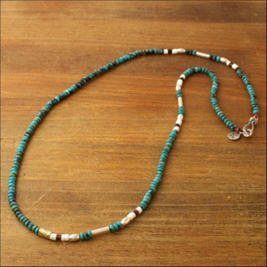 SILVER & TURQUOISE BZ NECKLACE