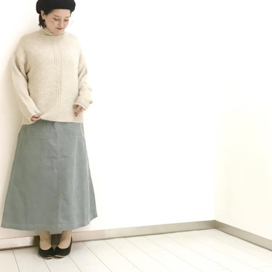 コーデュロイベイカースカート