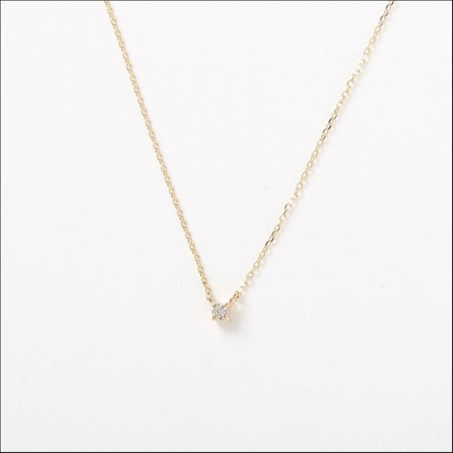 K10YGバースデーネック ダイヤモンド(4月)