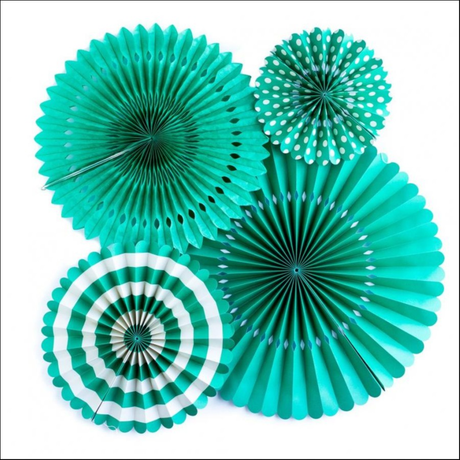 Basics Party Fans-!Teal